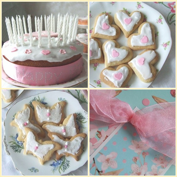 Birthday 4x4 cake and biscuits