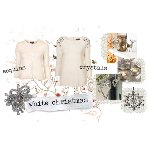 Polyvore set sequins and crystals