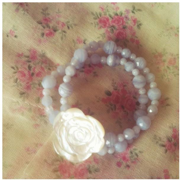 Lola rose bracelet bluelaceagate