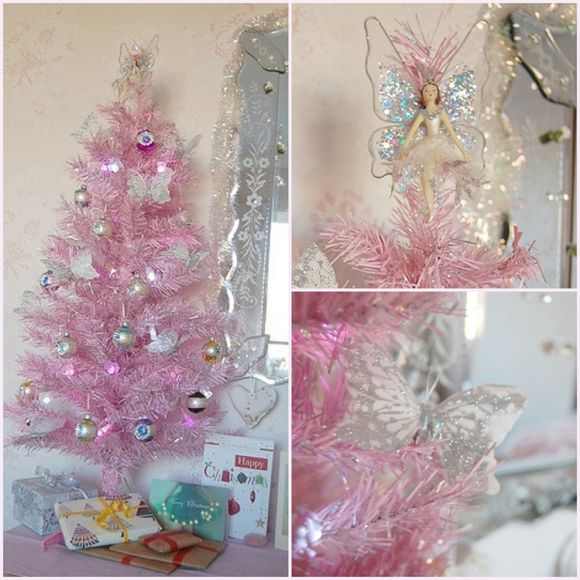 A little pink Christmas tree