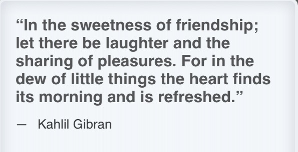 Kahlil gibran friendship quote