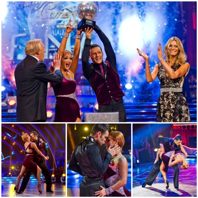 Harry and aliona lift the glitter ball