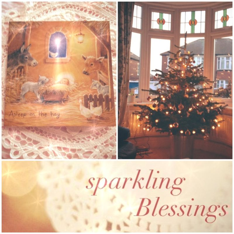 Christmas sparkling collage