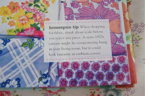 Homespun style tip