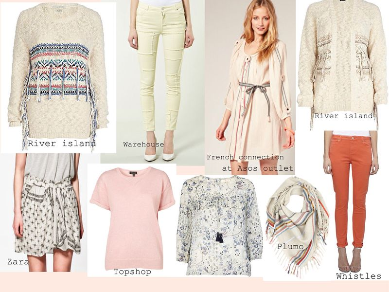 Clothes in the style of isabel marant