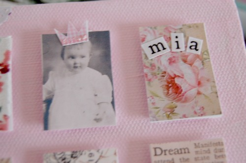 Details of mia's collage