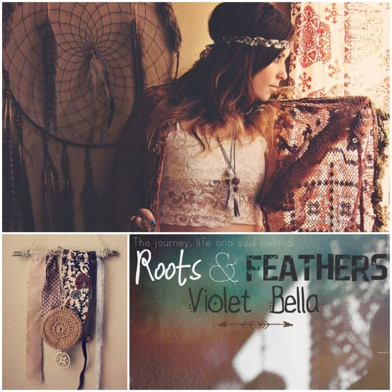 Roots and feathers violet bella