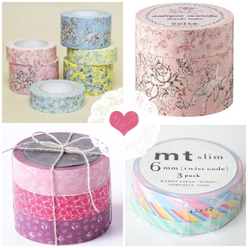 Pretty pastel and pink masking tapes