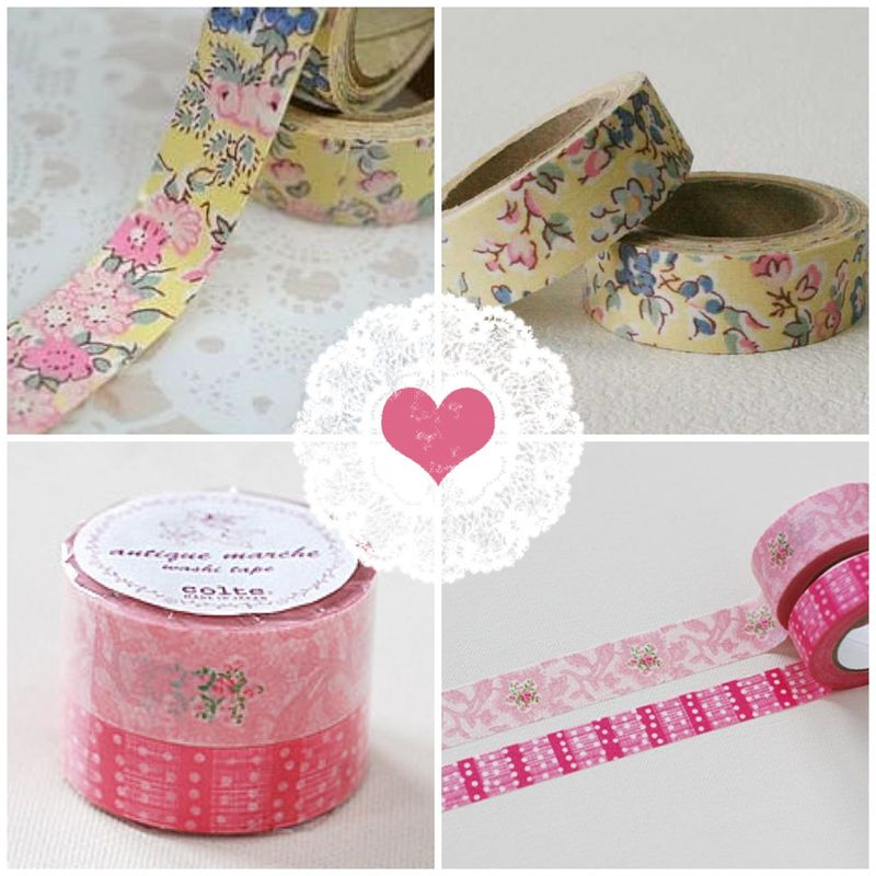 Pretty floral masking tape