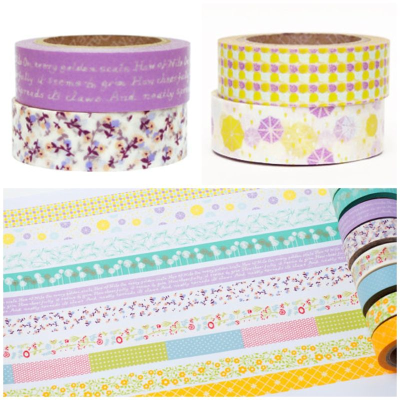 Pretty masking tape at etsy