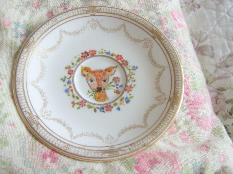 Icklebabe deer plate
